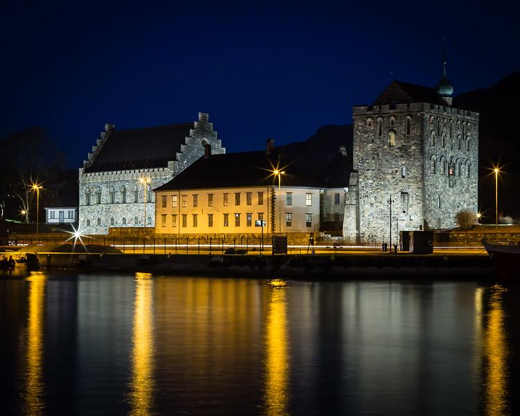 Håkonshallen in the Blue Hour