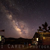 Milky Way over abandoned mining camp/cabin, Mojave National Preserve