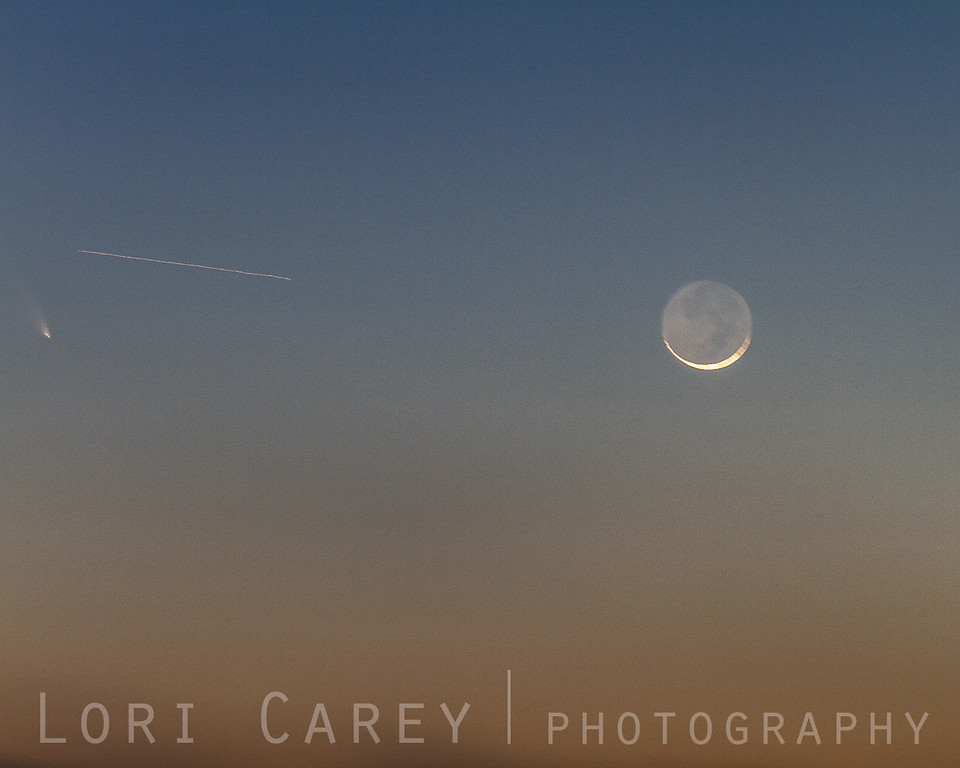 Comet PanSTARRS and the sickle moon, 12 March 2013
