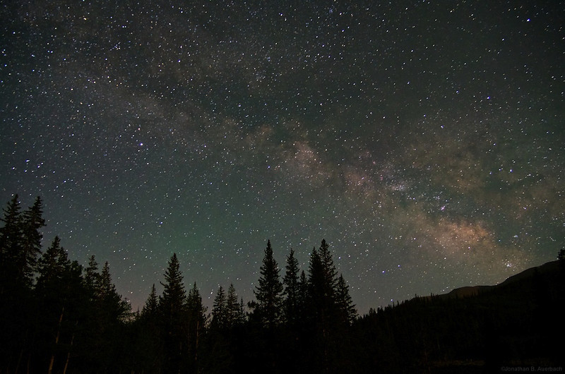 Milky Way over Buffalo Peaks Wilderness
