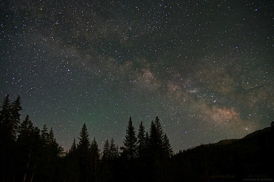 Milky Way over Buffalo Peaks Wilderness