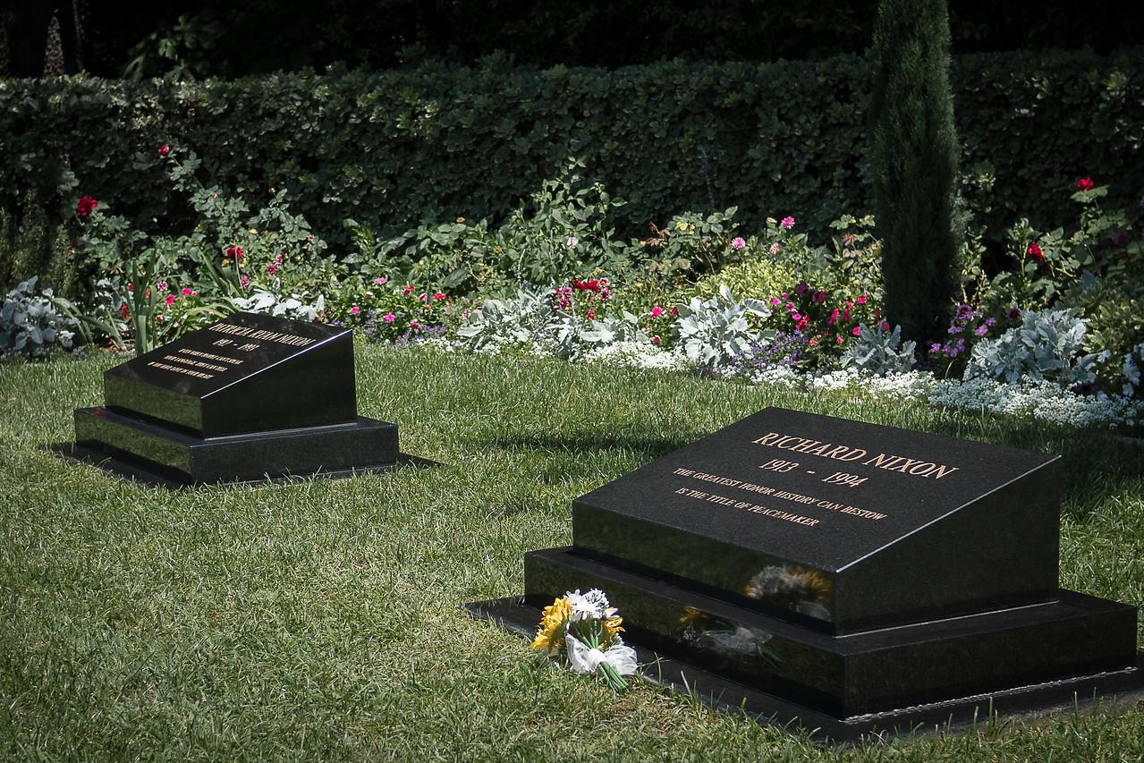 Burial place of Pat and Richard Nixon