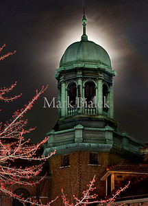 April 4, 2009 - Ann Arbor, MI, USA - A full moon rises behind the University of Michigan's historic West Hall on April 2, 2010.  (Credit Image: © Mark Bialek / ZUMA Press)