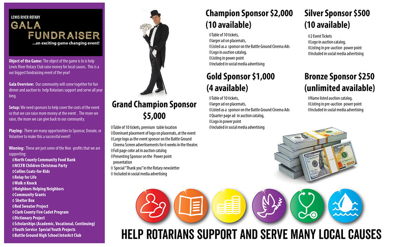 Lewis River Rotary Foundation Sponsor Sheet