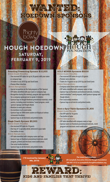 Hough Hoedown Feb 9, 2019 Sponsor Sheet