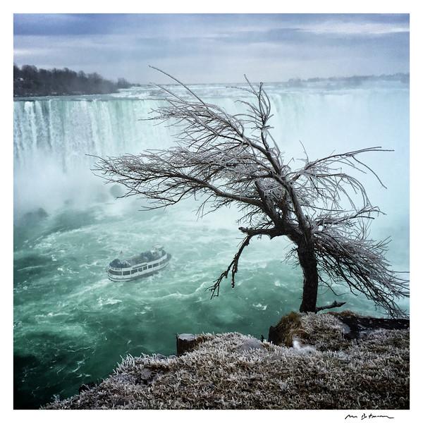 Maid of the Mist. Niagara Falls, April 2016, Original Fine Art Documentary Photograph by Michel Botman © north49exposure.com