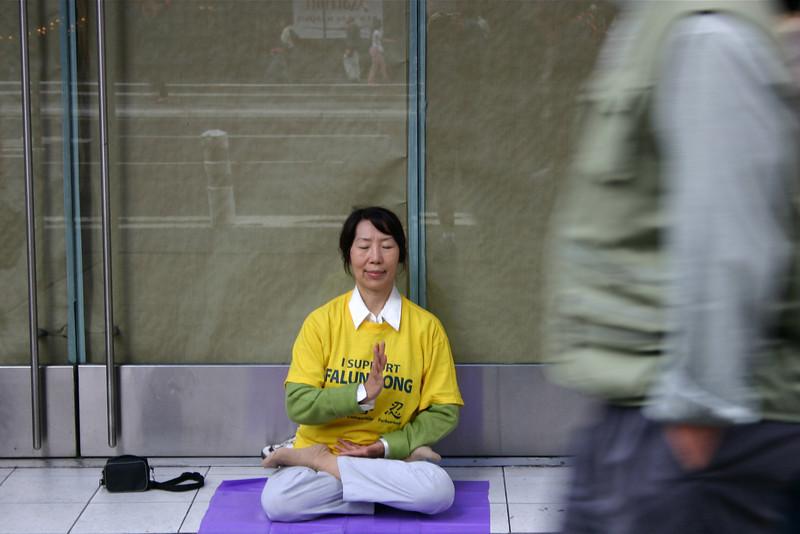 Falun Gong member, New York 2004 © Copyrights Michel Botman Photography