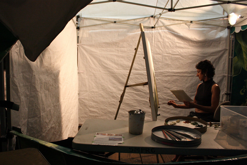 Painter, at the Santa Monica pier, Los Angeles, California (2008) © Copyrights Michel Botman Photography