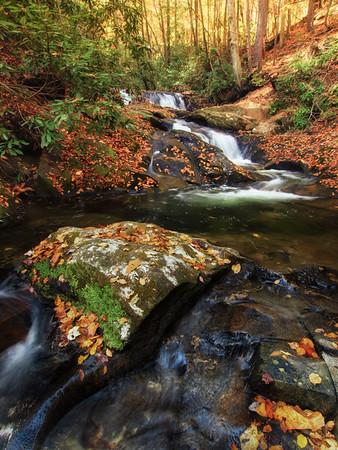 Falls along the Raven Cliffs trail