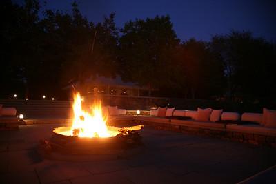 Evening campfire, Aman-i-Khas, near Ranthambore National Park