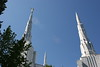 Portland Oregon LDS Temple spires... with Moroni and his trumpet atop the highest