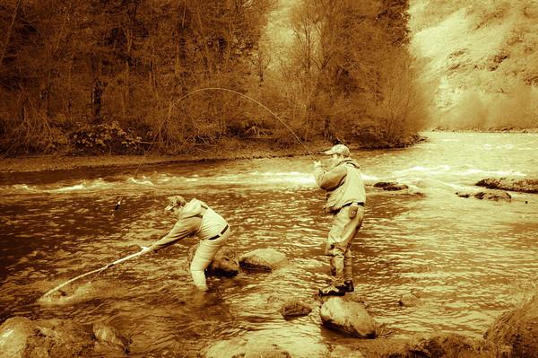 Salmon fishing in the Klickitat River