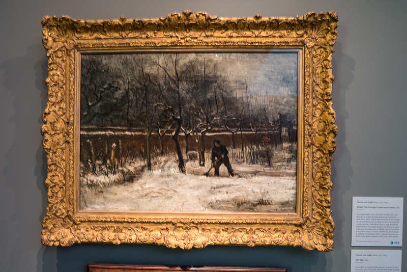 Winter the Vicarage Garden Under Snow, 1885