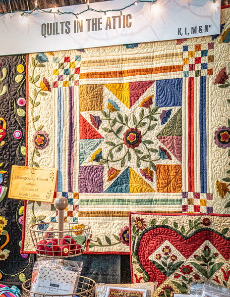 Quilts on display by exhibitor, Quilts in the Attic