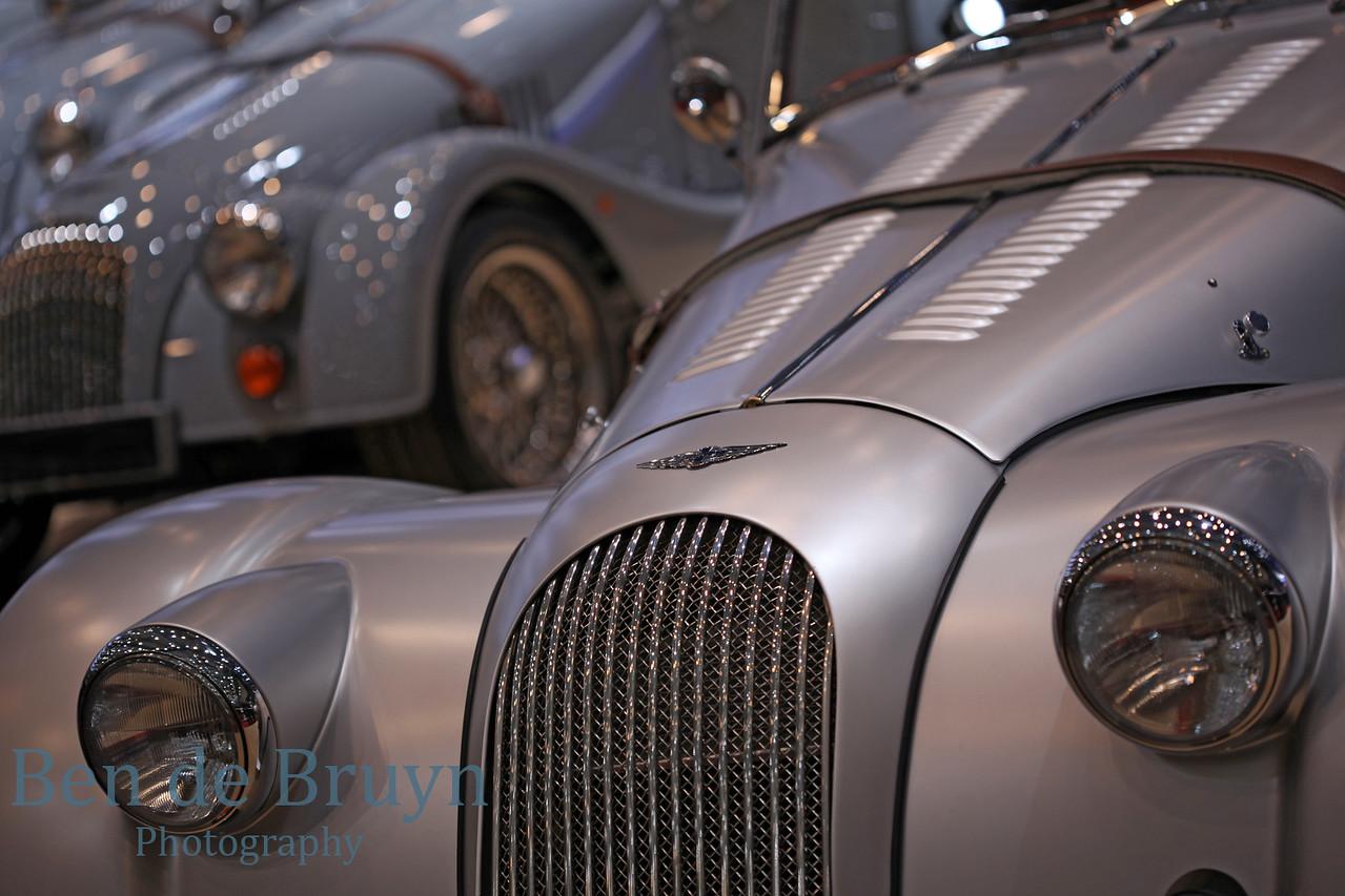 Silver high performance super car shining with sleek aerodynamic design and power look