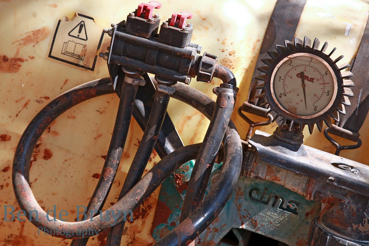 Old broken pump and meter view 1