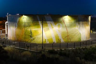Water Tank At Dusk Davis, CA, US