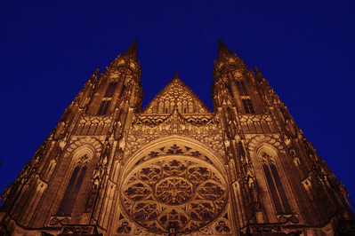 Cathedral At Night Prauge, CZ