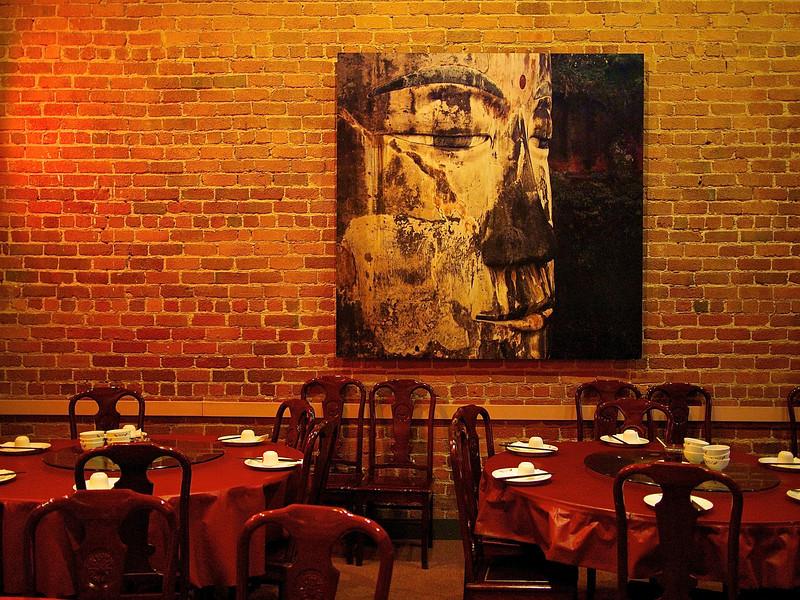 Henry's Hunan Restaurant, Interior with Buddha - San Francisco, California