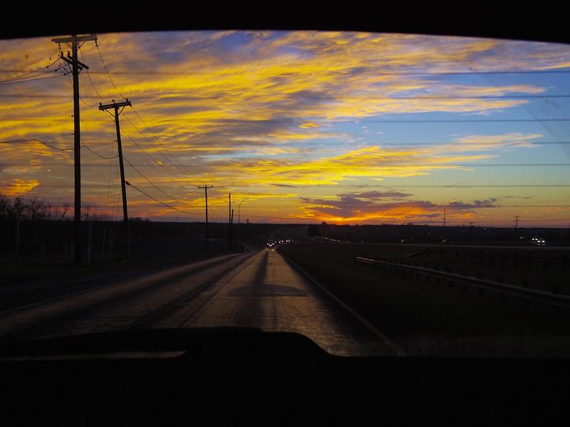 Highway Sunset #3 - San Antonio, Texas