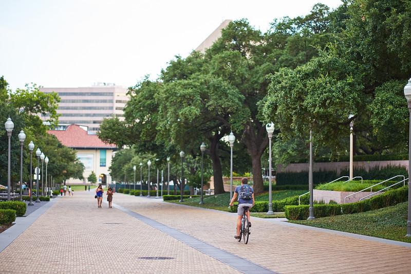 Cyclist on Path, University of Texas - Austin, Texas