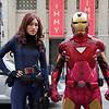 Black Widow and Iron Man - Hollywood, California