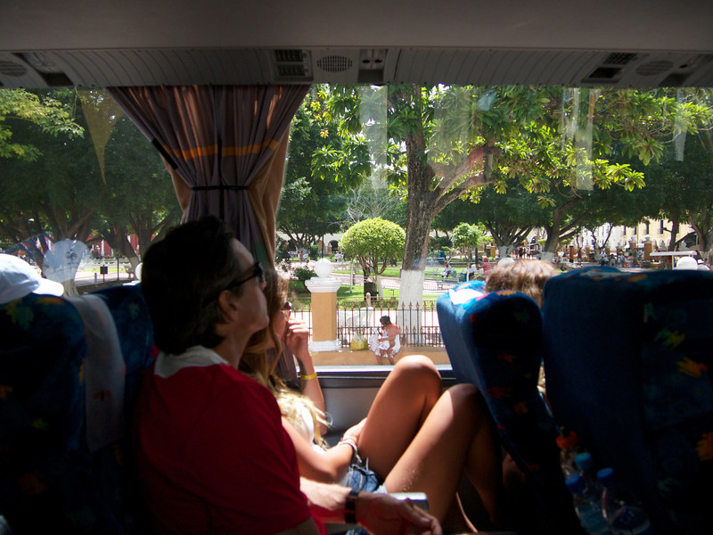 The view from the bus - Valladolid, Mexico