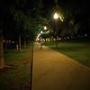 Walkway at Night, University of Texas - Austin, Texas