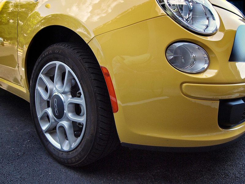 Yellow Fiat 500 - Austin, Texas