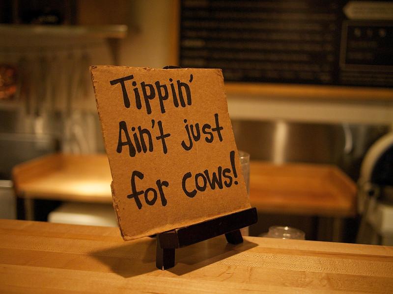 Hopdoddy Restaurant, Tippin' Suggestion - Austin, Texas