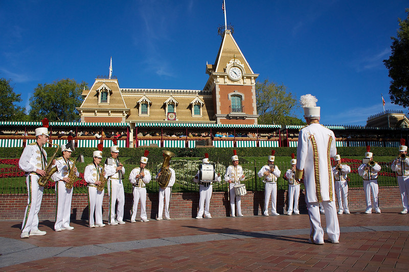 Band Performance at Main Entrance, Disneyland - Anaheim, California