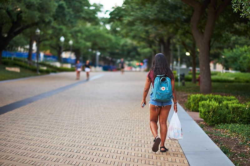 Coed with Groceries, University of Texas - Austin, Texas