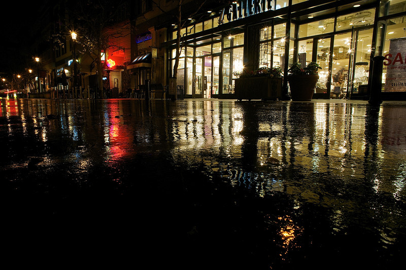 Street Reflections, Santana Row - San Jose, California