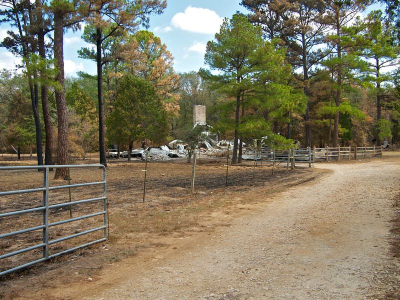 Neighbor's House, Bastrop Fire - Bastrop, Texas