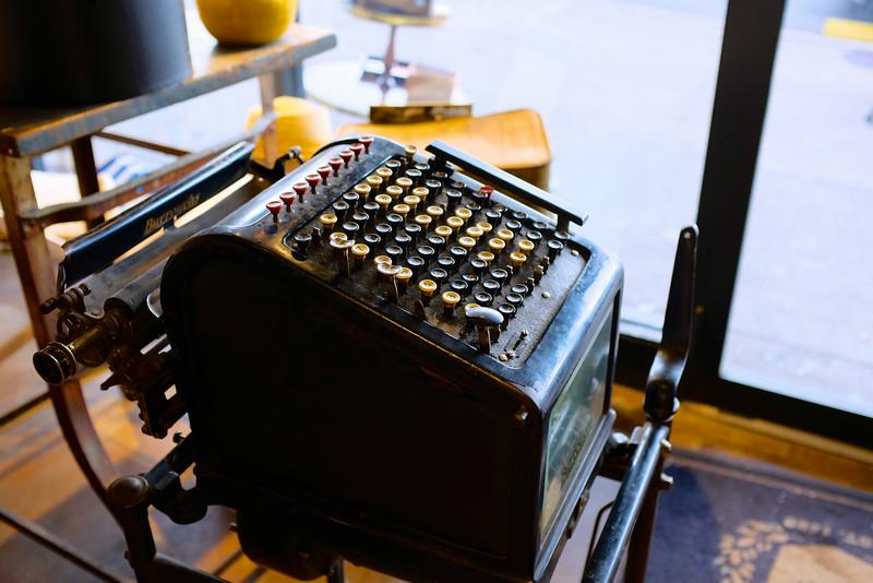 Machine from another era, Goorin Bros. - Austin, Texas