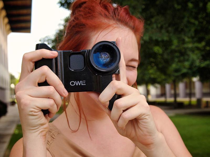 Rachel with Owle, iWalk iPhone Photowalk - Austin, Texas