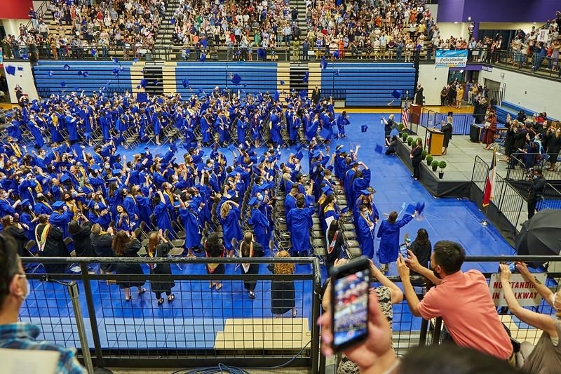 Cap Toss, High School Graduation - Austin, Texas