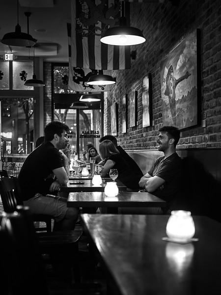 Patrons, Mort Subite Belgian Beer Bar - Austin, Texas