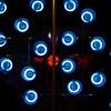 Random Blue Neon Circles, Lucky Lounge - Austin, Texas