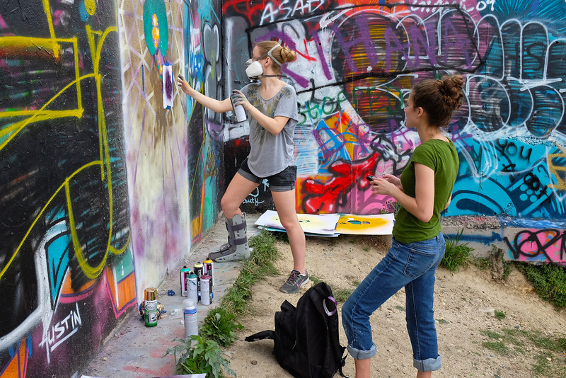 Observations at the graffiti wall #10 - Austin, Texas