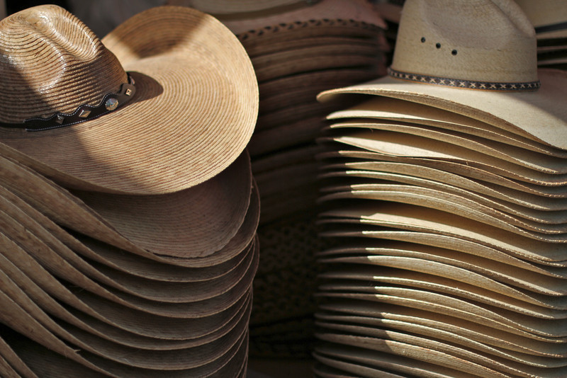Stack of Hats at El Mercado - San Antonio, Texas