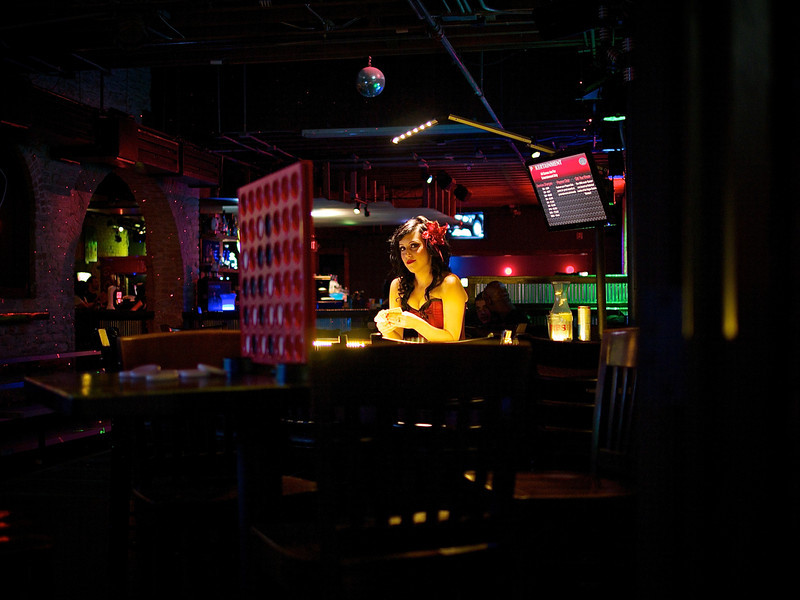 Card Dealer, Recess Arcade Bar - Austin, Texas