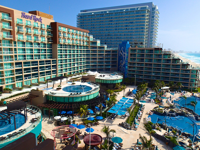The Pools of the Hard Rock Hotel - Cancun, Mexico