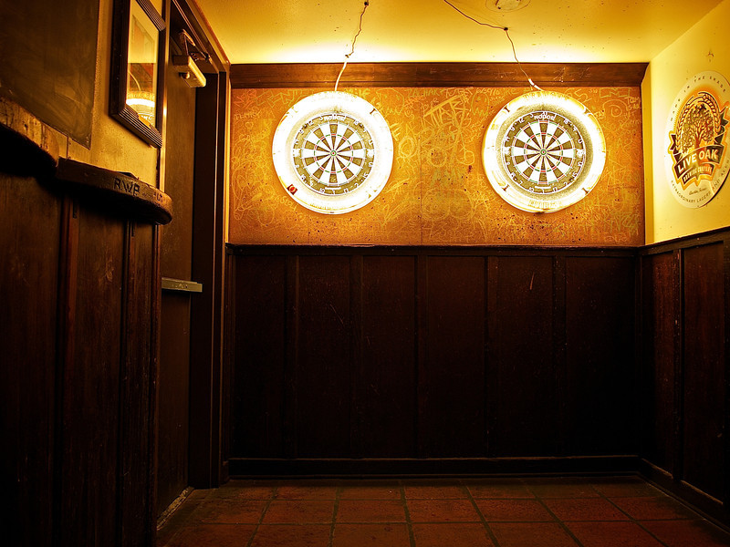 Glowing Dart Boards, Draught House Pub - Austin, Texas