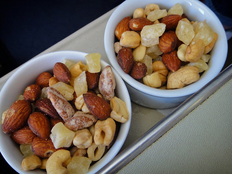 First Class Nuts on American Airlines - Los Angeles to Honolulu