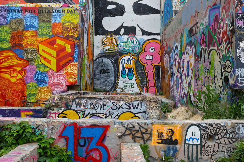 Observations at the graffiti wall #2 - Austin, Texas