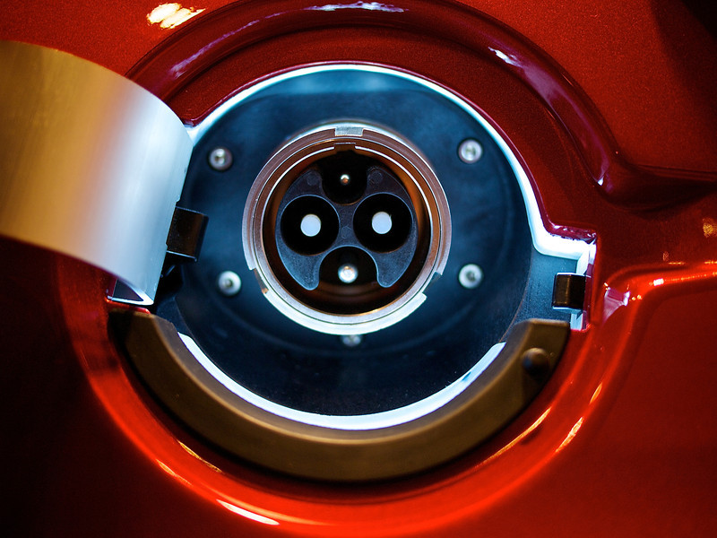 Electric Plug, Tesla Roadster - San Jose, California
