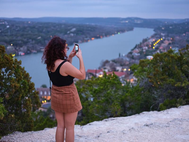 Woman at Mount Bonnell - Austin, Texas