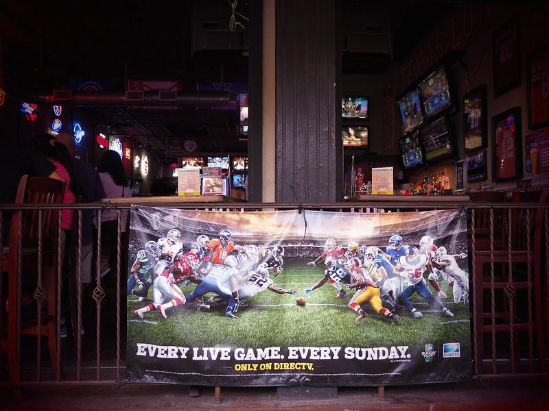 Sunday Football, 6th Street - Austin, Texas