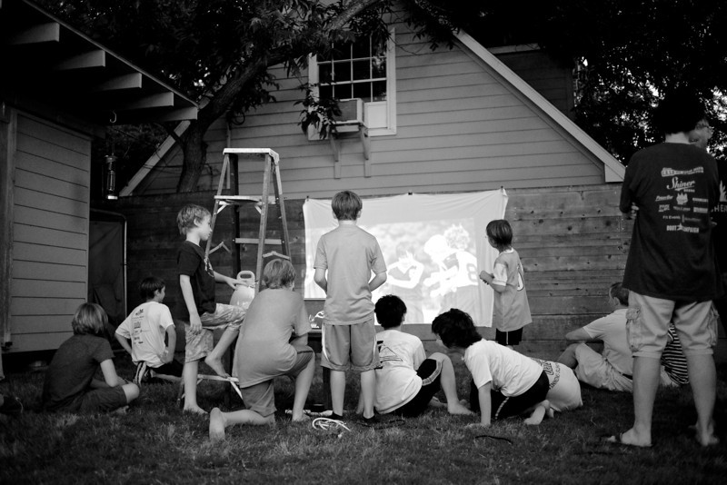 Backyard Slide Show - Austin, Texas